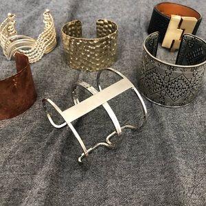 Set of 6 cuff bracelets